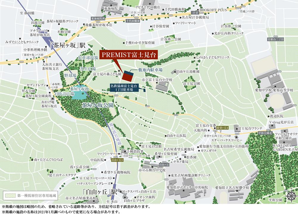 プレミスト富士見台:案内図