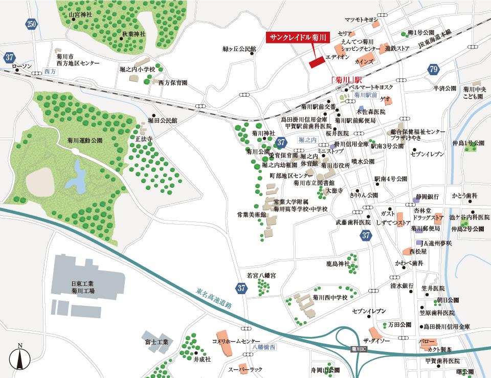 サンクレイドル菊川:案内図
