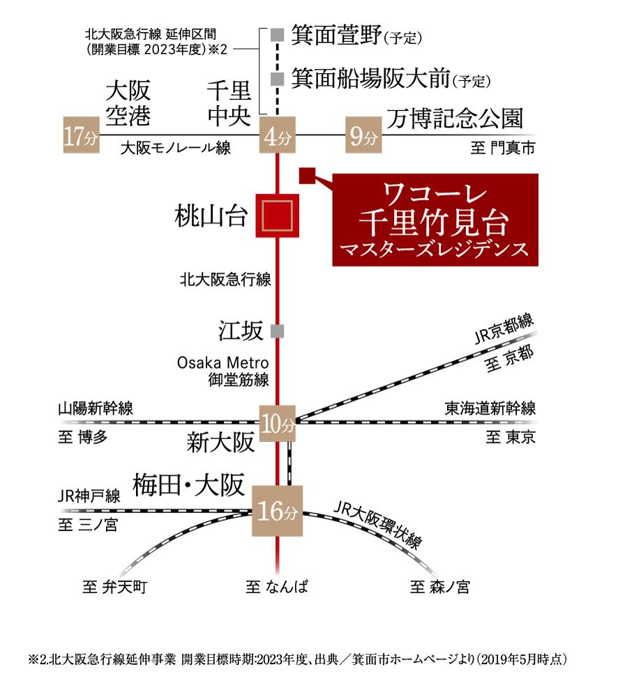 ワコーレ千里竹見台マスターズレジデンス:交通図