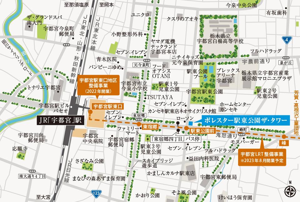 ポレスター駅東公園ザ・タワー:案内図