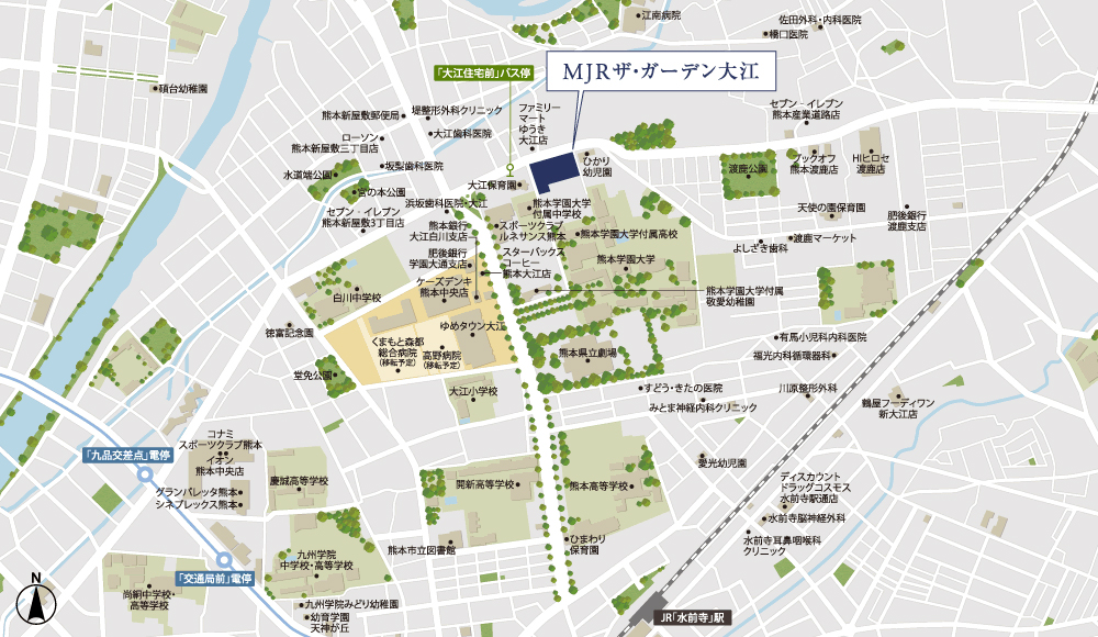 MJRザ・ガーデン大江:案内図