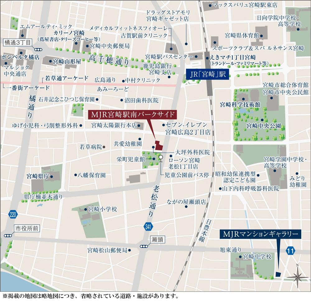 MJR宮崎駅南パークサイド:案内図