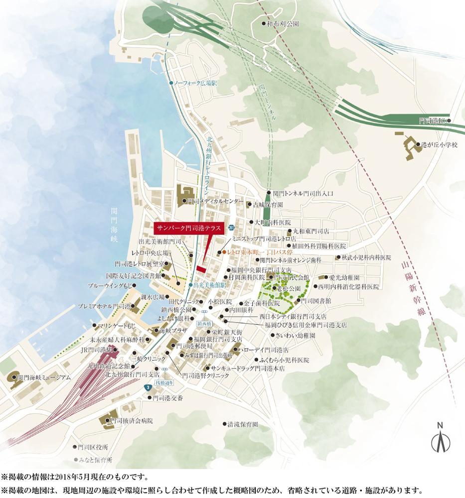サンパーク門司港テラス:案内図