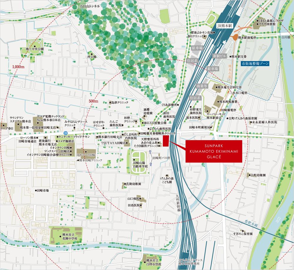 サンパーク熊本駅南グラッセ:案内図