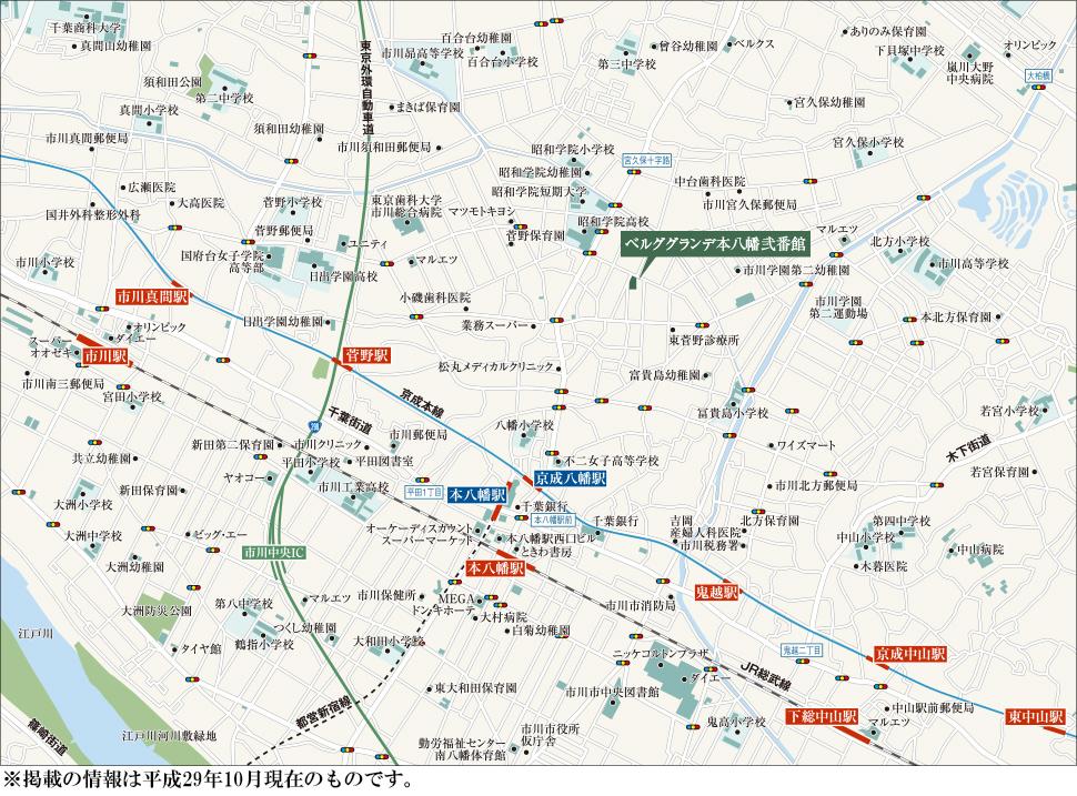 ベルググランデ本八幡弐番館:案内図