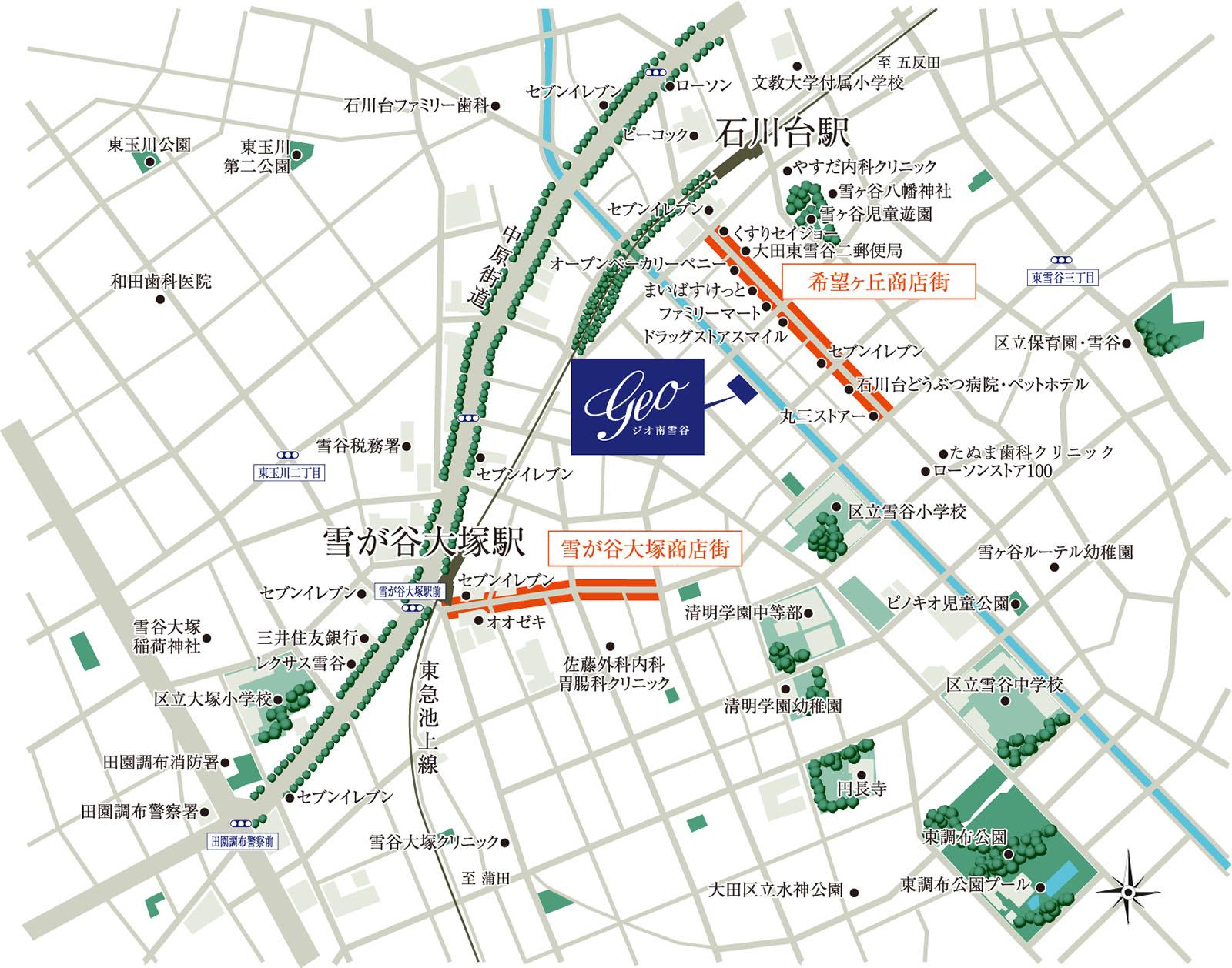 ジオ南雪谷:モデルルーム地図