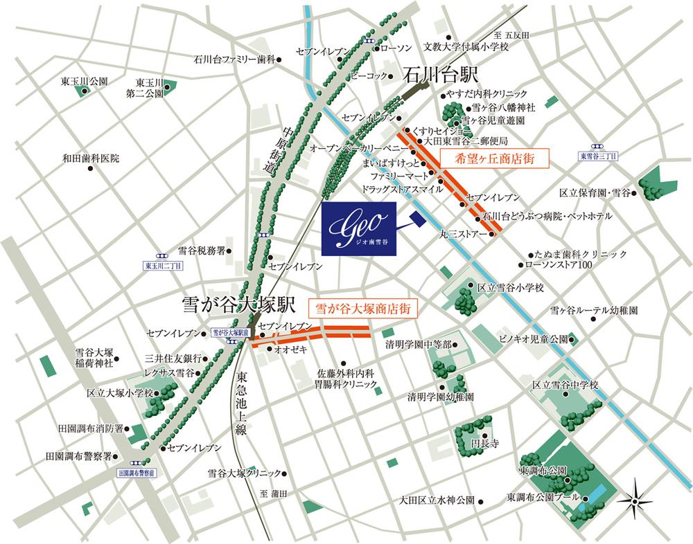 ジオ南雪谷:案内図
