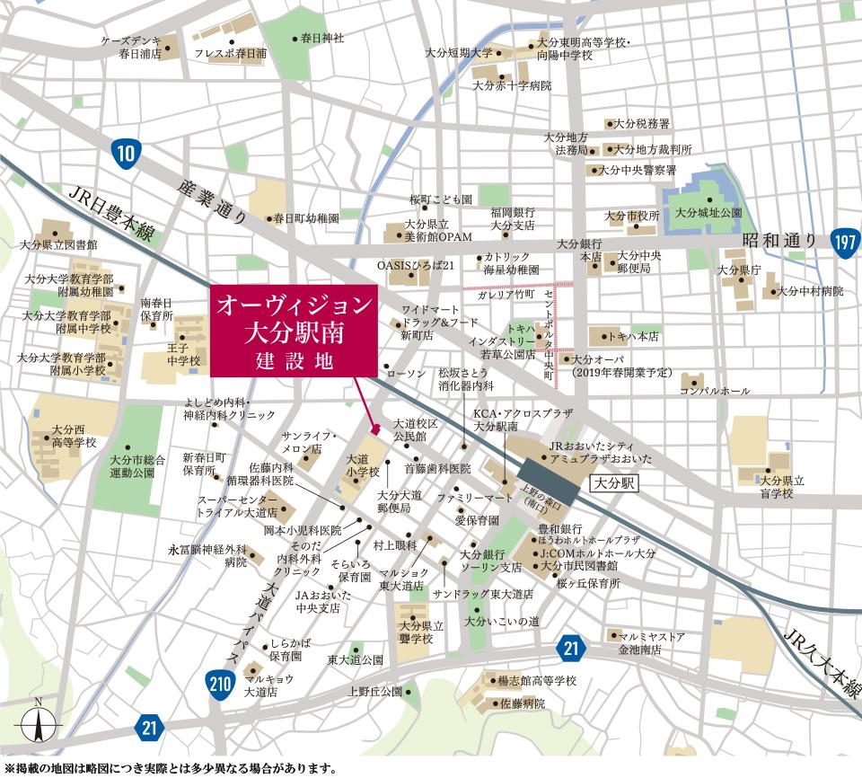 オーヴィジョン大分駅南:案内図