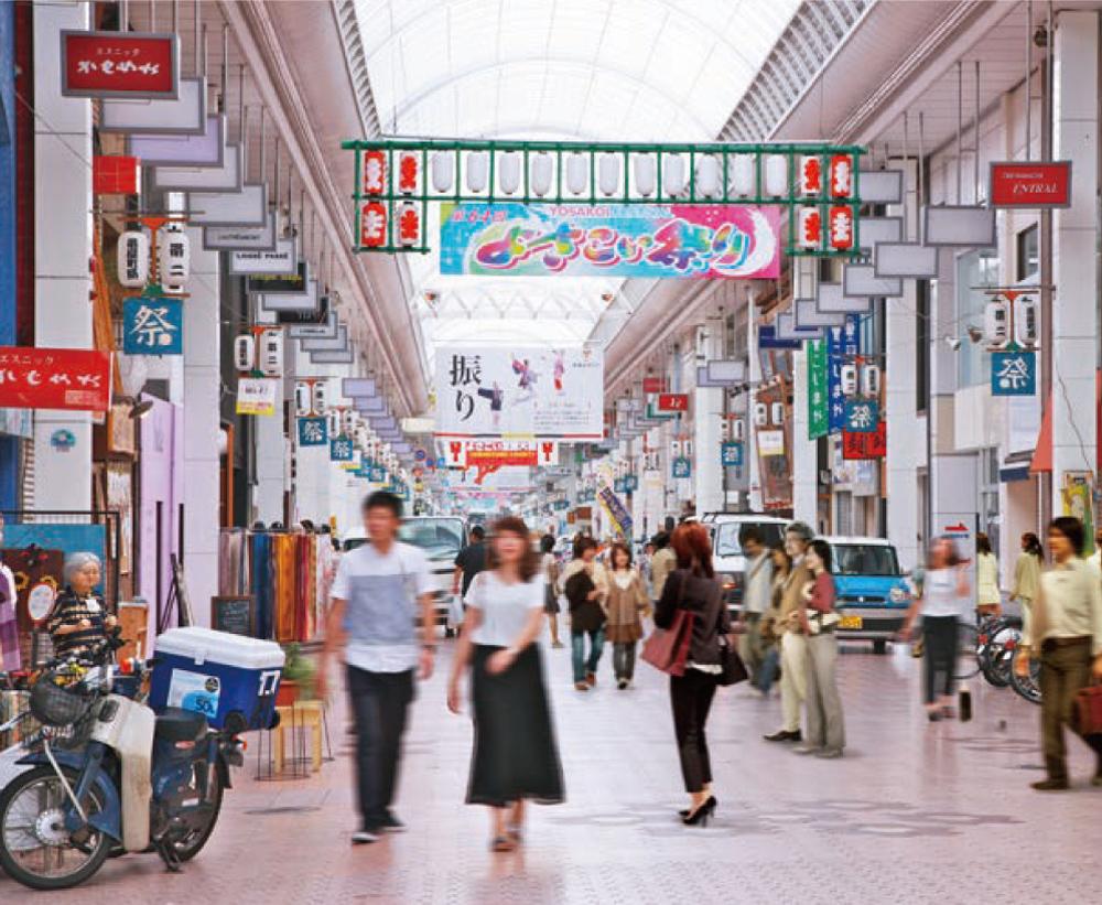 帯屋町商店街 約580m(徒歩8分)