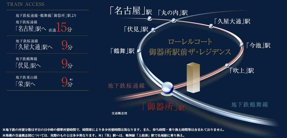 ローレルコート御器所駅前ザ・レジデンス:交通図