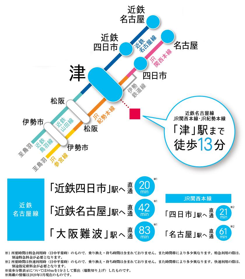 ローレルコート津桜橋グランドパレス:交通図