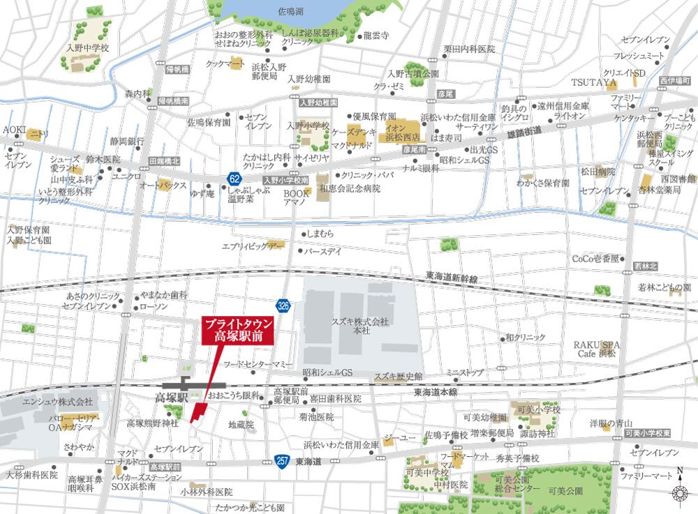 ブライトタウン高塚駅前:案内図