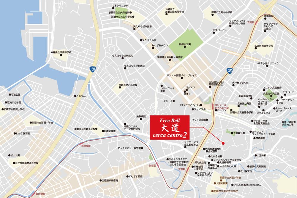 フリーベル大道セルカ セントロ セグンダ:案内図