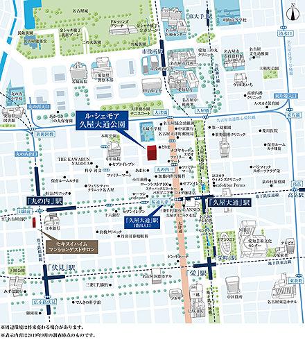 ル・シェモア久屋大通公園:モデルルーム地図