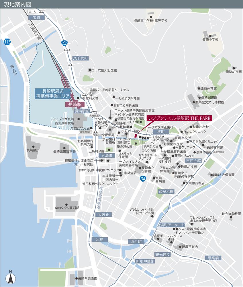 レジデンシャル長崎駅 THE PARK:案内図