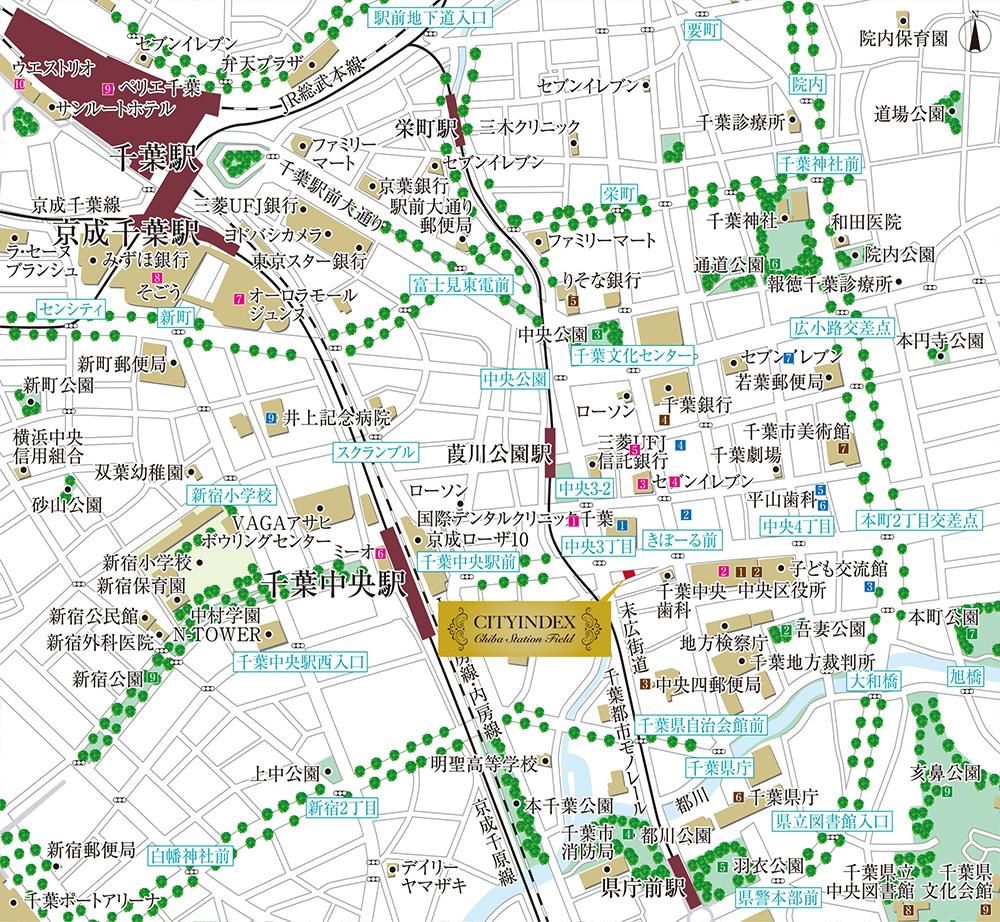 シティインデックス千葉ステーションフィールド:案内図