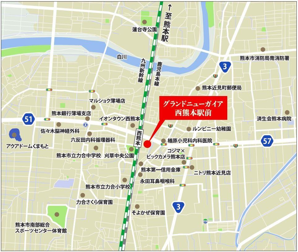 グランドニューガイア西熊本駅前:案内図