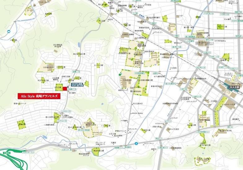 エイリックスタイル 高崎グランヒルズ:モデルルーム地図