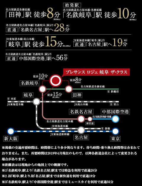プレサンス ロジェ 岐阜ザ・クラス:交通図