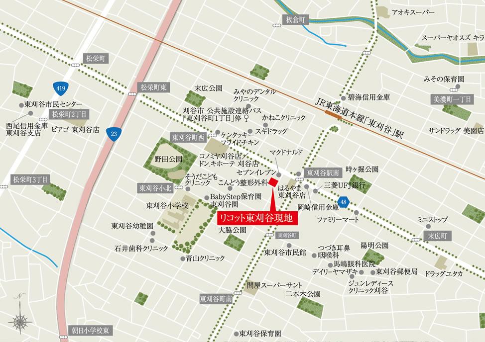 リコット東刈谷:案内図