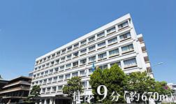 枚方市役所 約670m(徒歩9分)