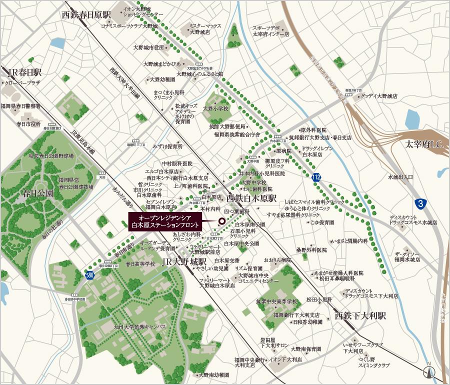 オープンレジデンシア白木原ステーションフロント:案内図