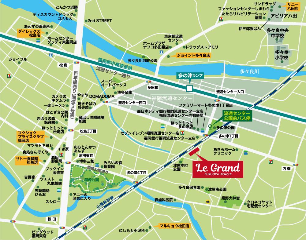 ルグラン福岡東:案内図