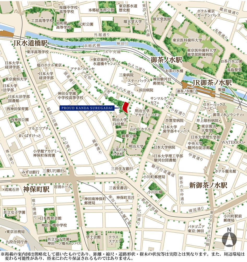 プラウド神田駿河台:案内図