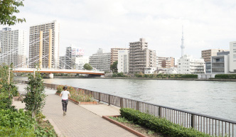 隅田川テラス 約690m(徒歩9分)