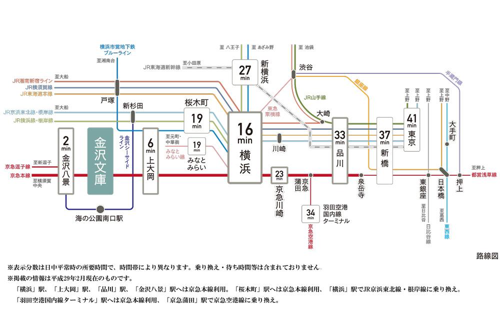 ザ・パークハウス オイコス 金沢文庫:交通図