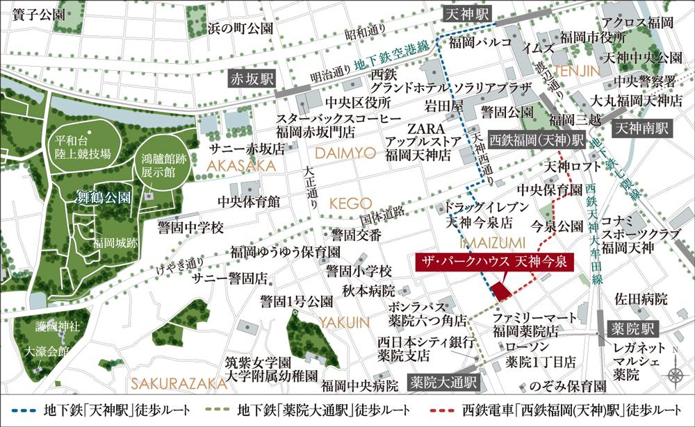 ザ・パークハウス 天神今泉:案内図