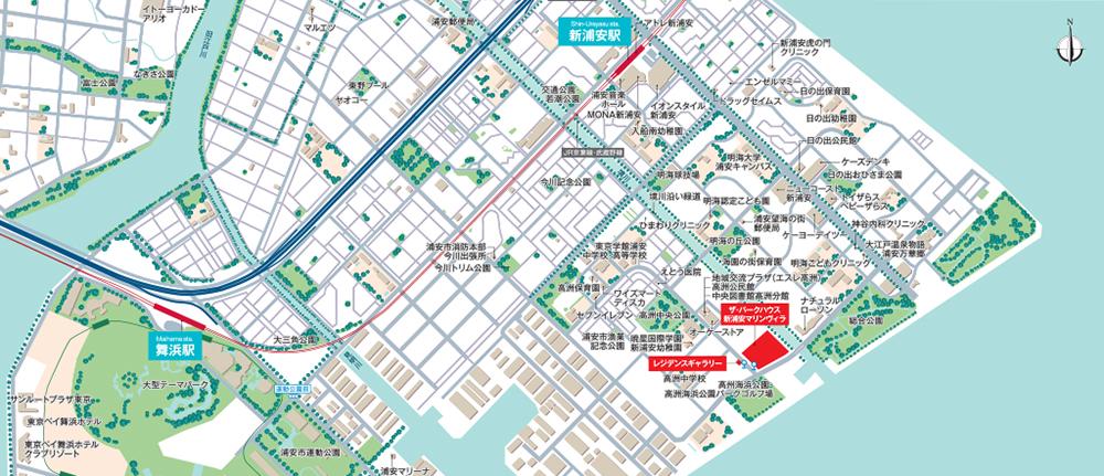ザ・パークハウス 新浦安マリンヴィラ(第2工区) サニープラザ・カームプラザ:案内図