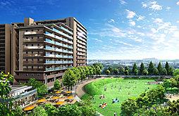 外観(外観・公園完成予想CG 公園一帯開発の全229邸、公園のある生活を身近に感じれる住まい。)