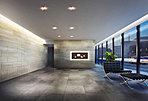 エントランスホール完成予想CG 上質な素材・アートで彩られた、オーナー様専用の寛ぎ空間。