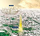 ※掲載の航空写真は、現地付近より南東方面を撮影(平成29年5月)した航空写真にCG加工を施したもので、実際とは異なります。