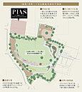 (仮称)本町二丁目公園の基本設計平面図 ※構想段階の基本図面に基づくものであり、実際とは異なる場合があります。