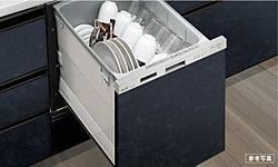 約5人分を1度に洗浄、乾燥することができる大容量の食器洗い乾燥機です。