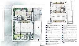 敷地配置完成予想イラスト/基準階完成予想イラスト