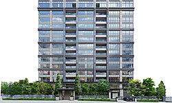 「パークコート千代田四番町」のファサードは、美しい陰影を創る格子状のグリッドデザイン。その中でも、上層階へ向かって表情を緩やかに切り替える三層構成としている