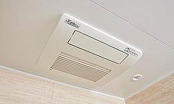 除湿・防カビ対策に効果的。寒い日の浴室まわりの暖房、洗濯物の乾燥にもお使いいただけます。