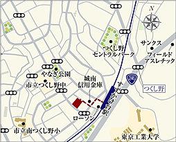【ダイワハウス】プレシャススクエアすずかけ台 第2期(建築条件付宅地分譲):案内図