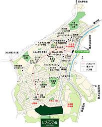 【ダイワハウス】八王子みなみ野シティ「シフォンの丘」 ファミレージテラス 第4期2次(建築条件付宅地分譲):案内図