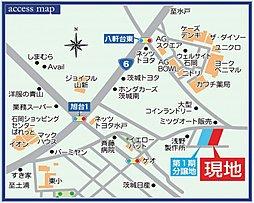 【ダイワハウス】ジーヴォスクエア石岡東大橋 (分譲住宅):案内図