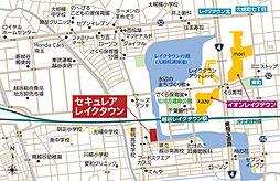 【ダイワハウス】セキュレアレイクタウン (建築条件付宅地分譲):案内図