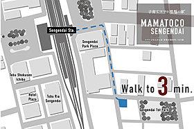 東武スカイツリーライン せんげん台駅まで、徒歩3分。