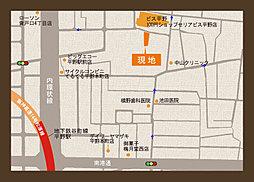 グロータウン平野本町 PART-3 新規分譲開始:交通図