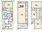 【3号地参考プラン図】 屋上をテラスにすることでお部屋が一つ増えたかのような住まいに。2階全体をLDKにすることで20帖の大空間が広がります。LDKに沿ったワイドバルコニーも魅力です。