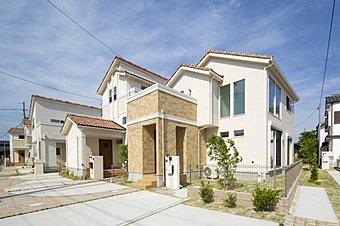 全6邸、優しく明るい街並みが完成です!