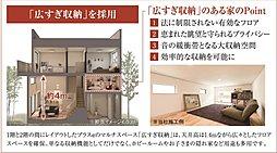 中2階にある広すぎ収納の部屋。収納部屋にはもちろん、趣味の部屋などライフスタイルに合わせてお使い頂けます。