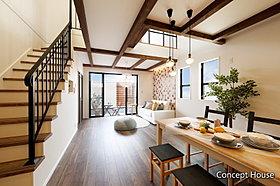 【コンセプトハウス】キッチン横にはパントリーと洗面コーナーを